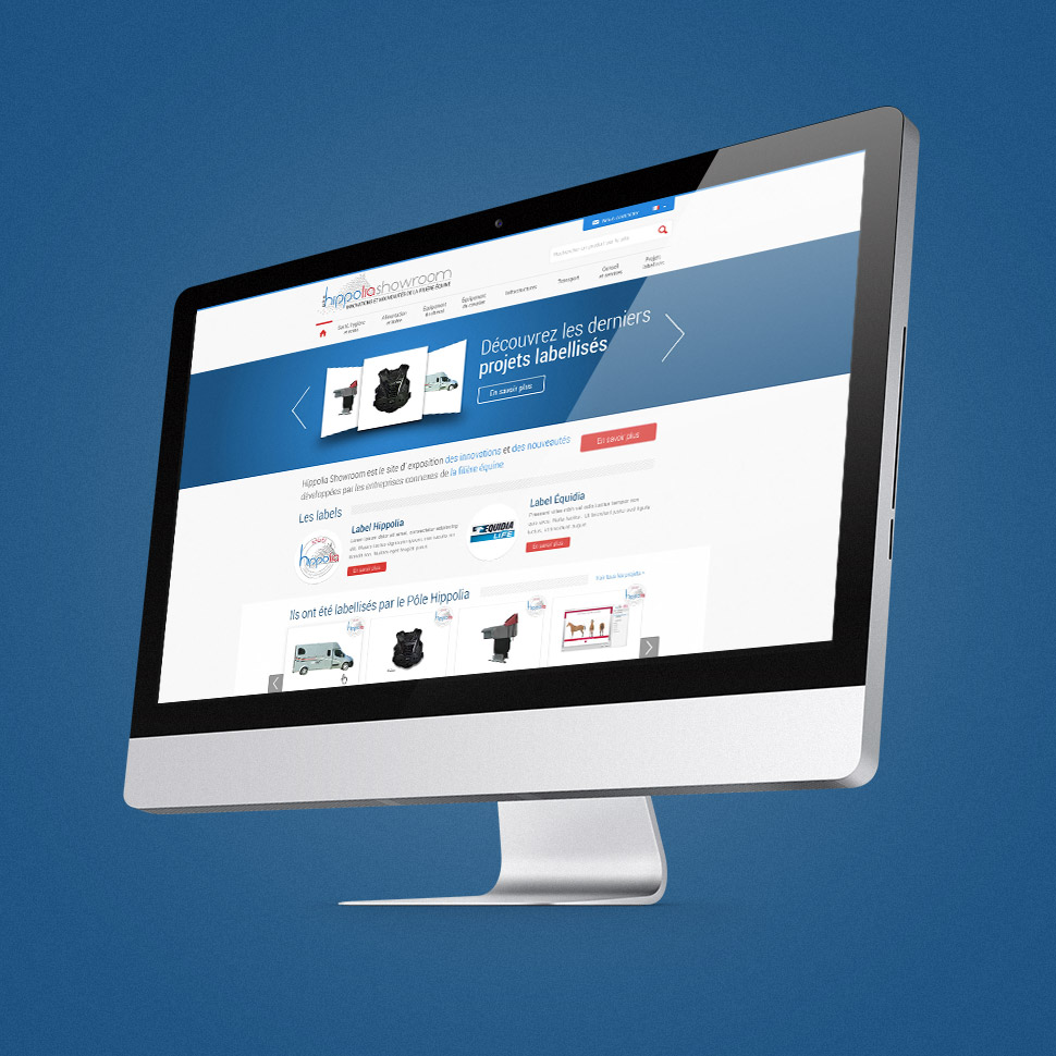site web e-commerce showroom hippolia